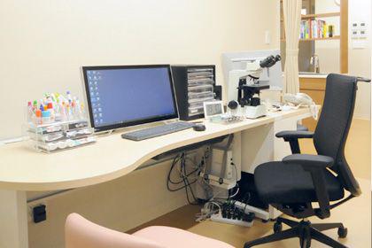 八代の皮膚科・美容皮膚科・小児皮膚科・エステ・脱毛の「くはら皮膚科」診察室2の写真